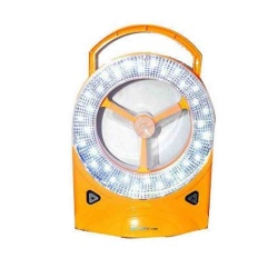 Keimav Rechargeable LED Light with Fan (Yellow)