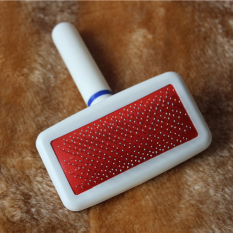 Red Puppy Cat Hair Grooming Slicker Comb Gilling Brush Quick Clean Tool Pet By Uebfashion.