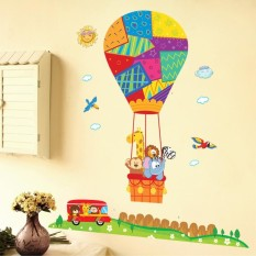 Removable Hot Air Balloon Small Animal Nursery Room Wall Stickers Cartoon  Childrenu0027s Room Home Wall Decor