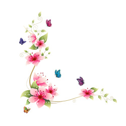 Removable PVC Bathroom Wall Posters Sticker Flower Butterfly Decor