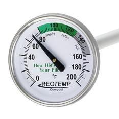 Reotemp Backyard Compost Thermometer - 20\ Stem\\; With Composting Instructions (fahrenheit) By Galleon.ph.