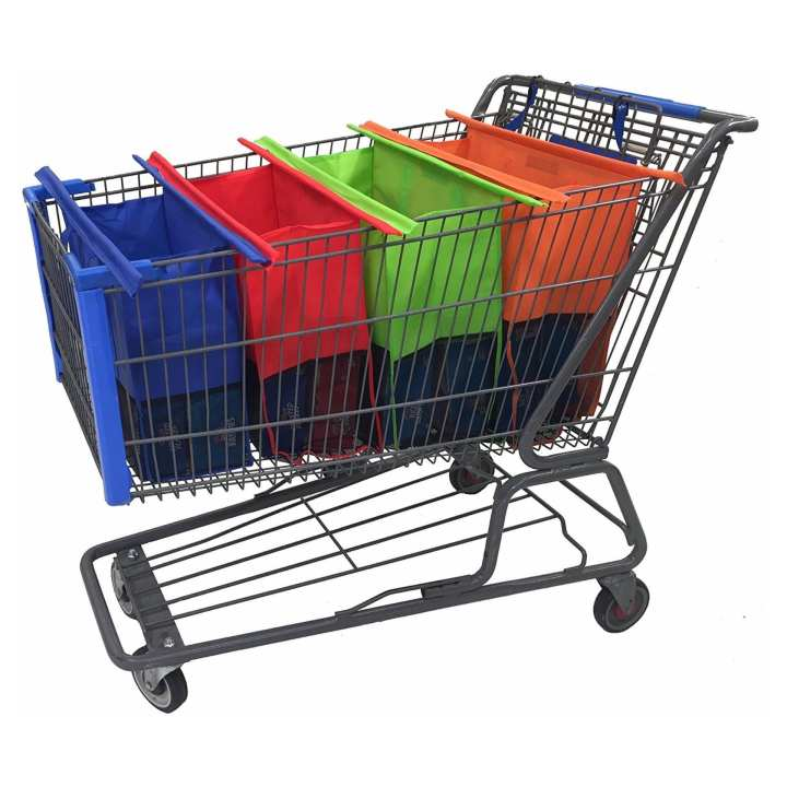 reusable shopping cart trolley bags heavy duty with handles carry all your grocery and other. Black Bedroom Furniture Sets. Home Design Ideas