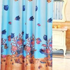 Romantic Magnetic Shower Curtains Simple Elegance Underwater World Thick Waterproof Polyester Bathroom Mildew CurtainW