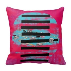 Rose Pink Suede Nap One Side Printing Pillow Case Cover(Multicolor)