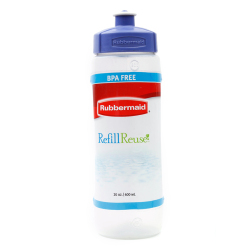 Rubbermaid  Squirt-Top Bottle  (Blue) - Drinking Water Cup for Sports and Outdoors, School Activities, Travel accessory container to hold cold and hot beverage. Good for juices, milk, soda, iced tea, gatorade and coffee.