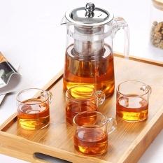 RuYiYu - Chinese Clear Glass Kung Fu Tea Set, Anti-scald and Heat-