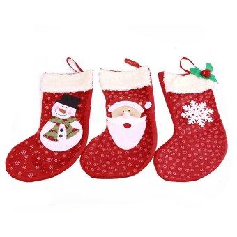 S & F 3pcs/set Christmas decorations party decorations Santa - Intl