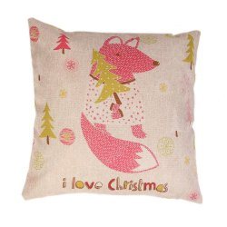 S & F Christmas Squirrel pillow cover - Intl