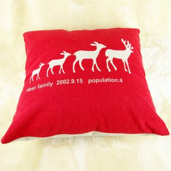 S & F Home Decor Pillow Cover Xmas Merry Christmas/Santa Claus/Deer Cushion Cases New - Intl