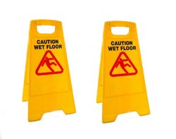 Keimav Safety Sign Caution Wet Floor (Yellow) Set of 2