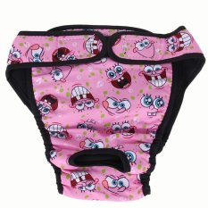 Sanitary Physiological Washable Pants for Dog Underwear(Pink)-L - intl Philippines