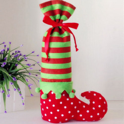 Santa Claus Elf Shoe Boot Suspenders Pant Candy Gift Bag