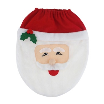 Santa Toilet Seat Cover Toilet Lid Xmas Christmas Decoration Home Decor - intl