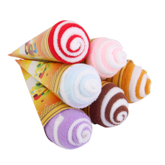 Set of 6 wedding Baby shower Christmas Ice Cream Cone Towel Favour gift
