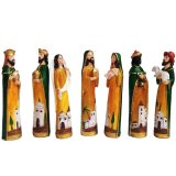 Set of 7 Mexican Style Nativity Scene figurine for Christmas with (Jesus,Saint St. Joseph, Blessed Virgin Mary, 3 Kings) Religious Item - thumbnail 1