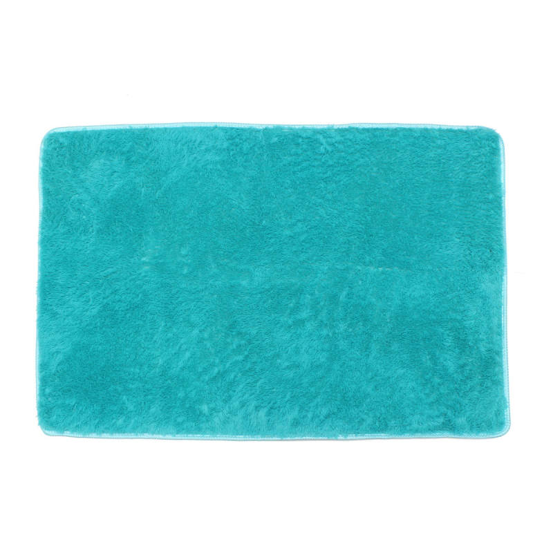 ... Sheto Shaggy Anti skid Carpets Rugs Floor Mat Cover 80x120cm Blue
