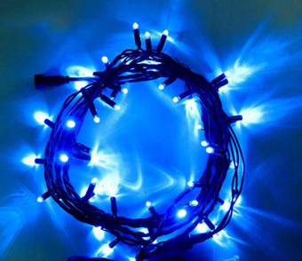 Shifan 10M Linkable 6.5W Twinkle Fairy Lights String Waterproof For Curtain Christmas Wedding Party Garden Decorative Lamp Blue Light