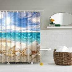 Shower Curtain Fabric Creative Print Antibacterial Bathroom
