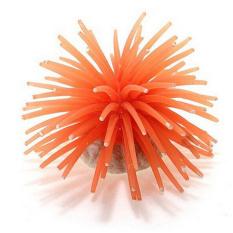 Silicone Aquarium Fish Tank Decor Artificial Coral Plant Underwater Ornament NEW 10cm Orange - intl