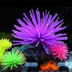 Silicone Aquarium Fish Tank Decor Artificial Coral Plant Underwater Ornament NEW 10cm Yellow - intl