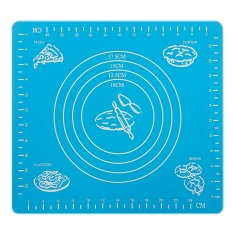 Silicone Nonstick Cake Fondant Dough Rolling Mat Pastry Bake Baking Mat with Measurement Scale Bakeware Cooking