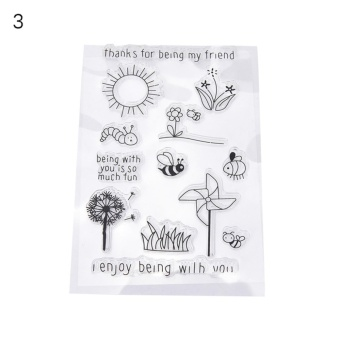 Silicone Rubber Stamp Seal Clear Scrapbooking Diary Christmas Card DIY YC-066(3#) - intl