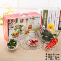 Diamond Glass Bowl And Dish 6 Set Of Six Pieces Of A Dessert Bowl Salad Bowl Fruit Bowl Gift By Taobao Collection.