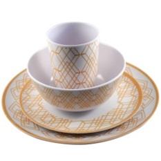 Slique 16pc Round Dinnerware Set (beige) By Lazada Retail Sulit Finds.