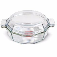 Slique Hexagon Glass Baking Dish By Sunbeams Impex Inc..