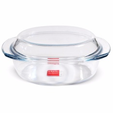 Slique Oval Glass Baking Dish 1.6l By Sunbeams Impex Inc..