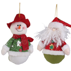 Snowman & Santa Claus Christmas Tree Decoration Christmas Hanging Ornament