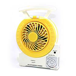Solar Fan-Light-Audio Combo (Yellow)