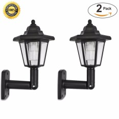 Solar LED Wall Lights Outdoor  LED Solar Wall Sconces Vintage Solar  Security Wall Lights For ...