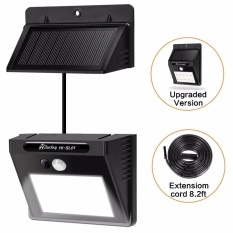 Solar Light Waterproof Motion Sensor Wall Light with Separable Solar Panel  and 8 Ft Extension Cords for Garden, Patio, Driveway, Deck, Stairs - intl