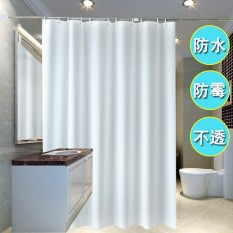 Hotel Bathroom Solid White Shower Curtain Cloth Waterproof Thick Door Occlusion