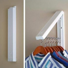 Stainless Folding Wall Hanger Retractable Clothes Waterproof Hangers Towel