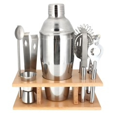 Stainless Steel Cocktail Shakers Mixer Drink Bartender Martini Bar Set Tools Kit750ml - Intl By Audew.