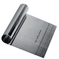 Stainless Steel Pizza Dough Scraper Cutter Kitchen Pastry Cake Tool Scale ( Intl)
