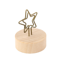 Star Shape Design Memo Holder Paper Note Photo Clip Desk Decoration