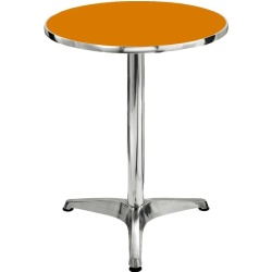 Sumo AT-60R ORG Top Aluminum Round Pantry Table (Orange)