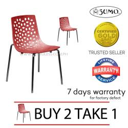 Sumo SC-16RED Designer Plastic Stacking Chair (Red) Buy 2 Take 1