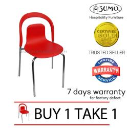 Sumo SC-24RED Designer Plastic Chair Furniture (Red) BUY 1 TAKE 1