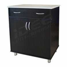 Tailee Furniture 2105 Kitchen Cabinet 2 Door And 1 Drawer With Tiles Top Table (wenge) By Idee Enterprises - Furnitures.