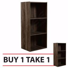 Tailee Furniture St-300bf 3-Layer Utility Cabinet Organizer (brown) Buy 1 Take 1 By Idee Enterprises - Furnitures.