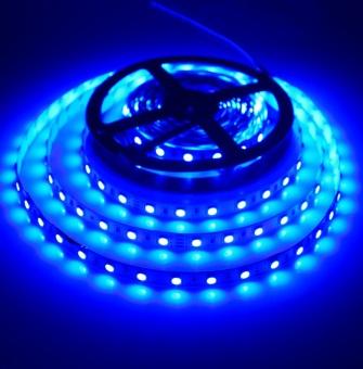 Tanbaby Blue Hot sale 5050 DC24V Non-waterproof Led Strip Light 5M 300Leds 60Leds/M Fiexble Light Led Ribbon Tape Home indoor Decoration Lamp for party wedding christmas Diwali Festival