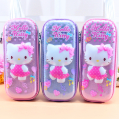 The HelloKitty Child Pen Bag KT Cat Primary School Livings Cartoon Writing Case Box Big