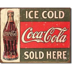 Tin Sign Coke C. 1916 Ice Cold