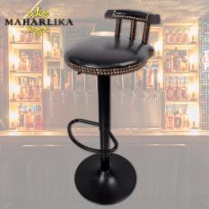 Traditional High Quality Elegant Bar Stool Bar Chair High Chair Adjustable Round  Black