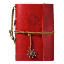 Travelers Handbook Vintage Diary Leather Cover Travel Planner Pocket Notebook (Intl)
