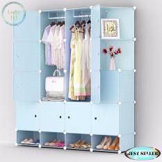Tupper Cabinet XJ 816 16 Cubes Blue Doors Blue DIY Storage Cabinet With  Shoe Rack